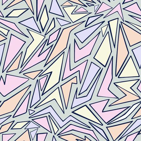 Dibujado a mano patrón de triángulo geométrico transparente para su diseño en colores pastel