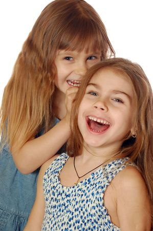 Two Playful Girls Stock Photo - 4283687