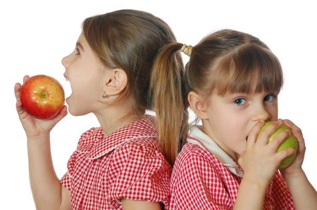 mouth couple: apples and girls