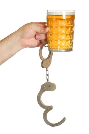 drunkard: unchained drunkard Stock Photo