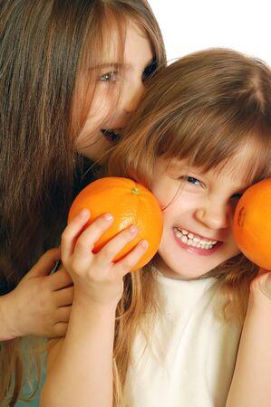 fun with oranges Stock Photo - 4347066