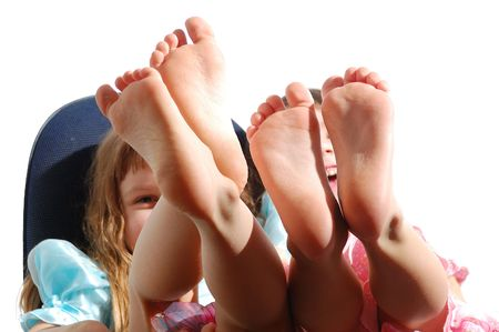 kids feet: happy feet Stock Photo