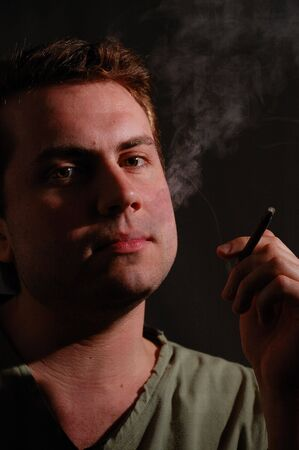 Man With A Cigarette photo