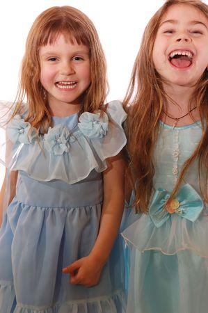 gambe aperte: due ragazze ridere