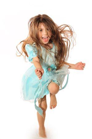 little girl dancing: Happy dance Stock Photo