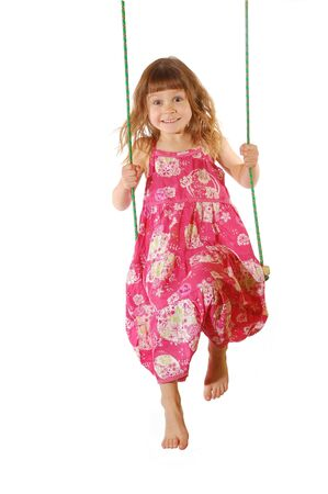 kids dress: happy swinging time Stock Photo