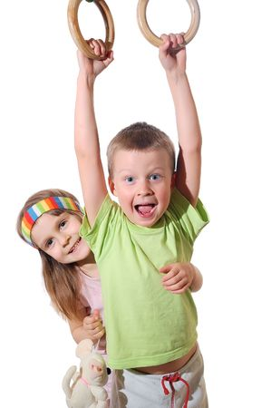 child couple: Playful Sportive Kids