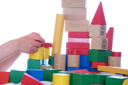 playing with blocks photo
