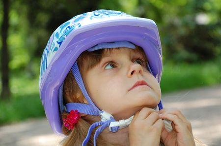 girl with a helmet photo