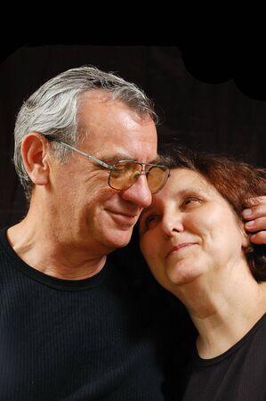 matures: portrait of a happy senior couple Stock Photo