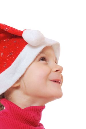 Cute child wearing Christmas costume. photo