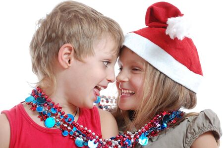 foretaste: Happy smiling kids in Christmas costume
