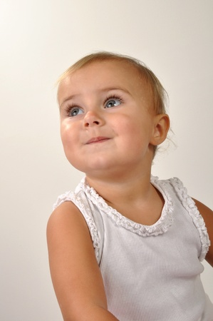 portrait of a 1 year old beautiful girl Stock Photo - 11690404