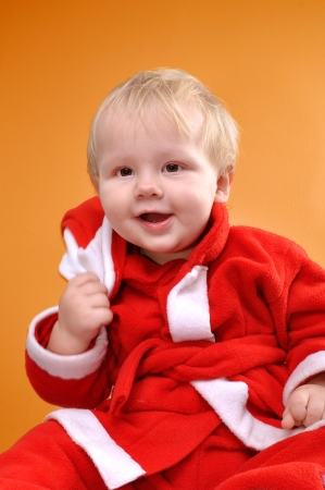 portarit: close-up portarit of a cute smiling happy toddler boy Stock Photo
