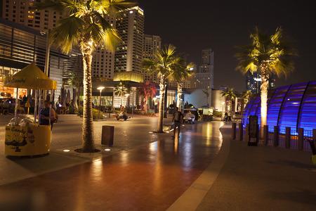 beachfront: Dubai, UAE - March 14, 2016. JBR Walk. Editorial
