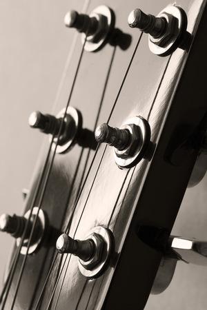 Guitar, close up.