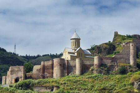 tbilisi: Old fortess Narikala in Tbilisi Editorial