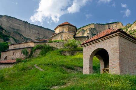 Secluded monastery high in the mountains