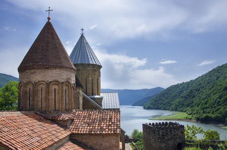 monastery nature: Ananuri monastery