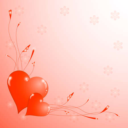 Valentines Day vector paper heart shape on pink background