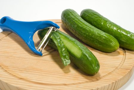 peeler and cucumber photo