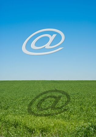 email alias above green field