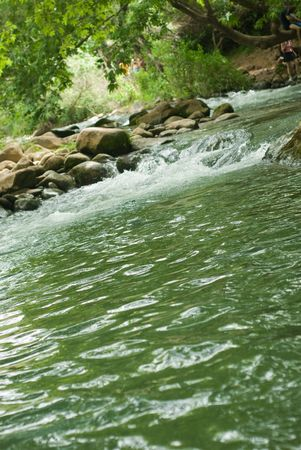 mountain river on the israel north photo