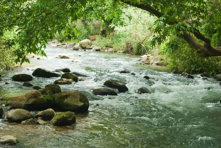 mountain river on the israel north