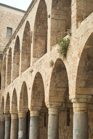 ancient israel: arcade in ancient israel city