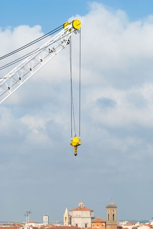 Close up of a crane in Port of Livorno photo