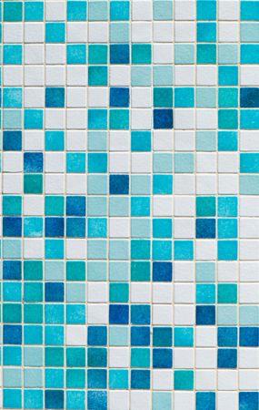Blue mosaic on the  pool floor