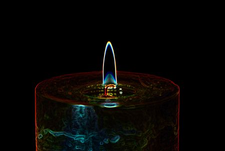 oscillation: abstract illustration of  candle