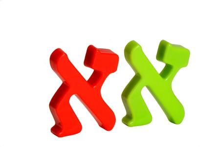 Plastic characters of Hebrew alphabet Stock Photo - 4162070
