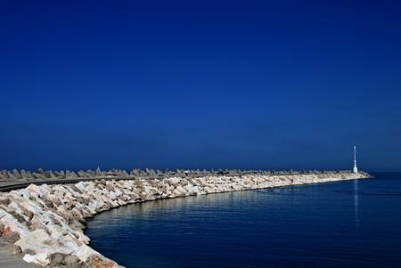Coast of Mediterranean sea in Israel Stock Photo - 4344492