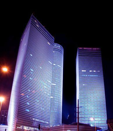 night landscape of Tel Aviv
