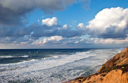 Coast of Mediterranean sea in Israel photo