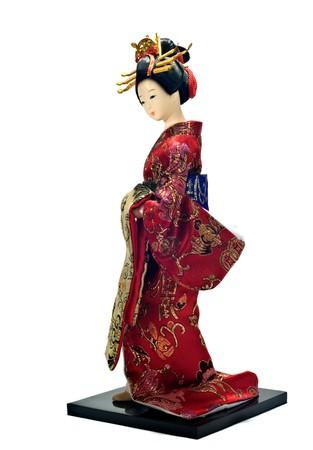 geisha doll Stock Photo