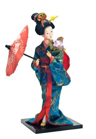 geisha kimono: geisha doll Stock Photo