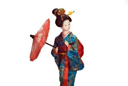 overwhite: geisha doll Stock Photo