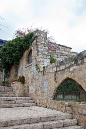 backstreet: vista de los Backstreet en Zfat (Israel)