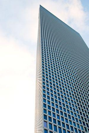 azrieli tower: Skyscraper over a sky background