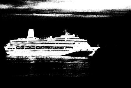 cruise ship in Monte-Carlo water area Stock Photo - 5229466