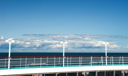 view of the deck on a cruise ship