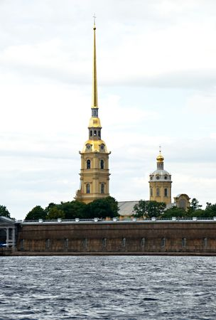 basilica of saint peter: Peter and Paul cathedral. Saint-Petersburg, Russia  Stock Photo