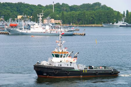 tugboat: view of the port area and tugboat