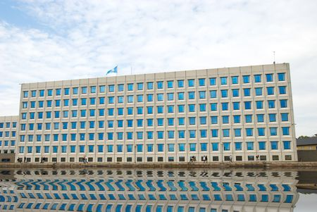 building with blue windows. Copenhagen (Denmark) Stock Photo - 5782850