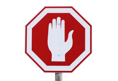Traffic sign Stop specific in Israel photo