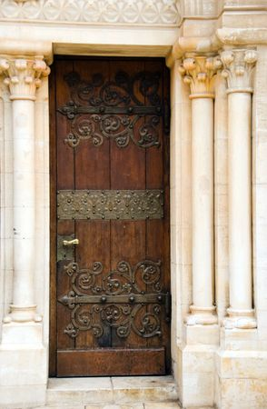 an old door of church in old city of Jerusalem Stock Photo - 6551534