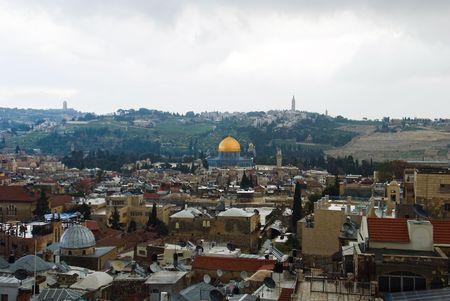 The holy city Jerusalem from Israel photo