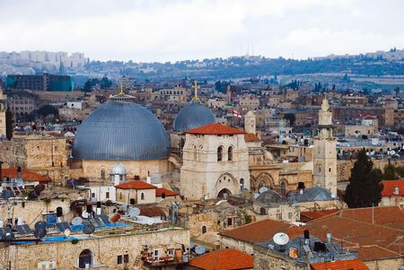 The holy city Jerusalem from Israel photo
